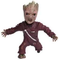 thematys/® Baby Groot Porte-cl/és Costume Jaune Parfait comme Cadeau Figurine daction du Film Classique Je suis Groot