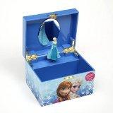Caja Musical Joyero Alhajero Elsa Frozen Disney Infantil Color Azul