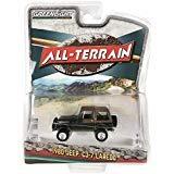 (1980 Jeep CJ-7 Laredo Metallic Green with Brown Top All Terrain Series 7 1/64 Diecast Model Car by Greenlight 35110 D)
