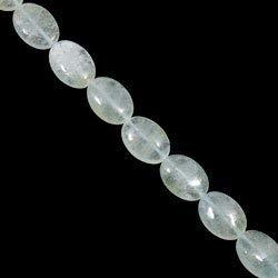 Aquamarine Crystal Beads - 18mm Flat Oval