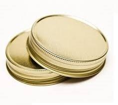 Nakpunar 12 pcs Gold Mason Jar Lids (Wide Mouth Lid One Piece compare prices)