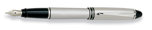 (Aurora Ipsilon Metal All Chrome Cap and Barrel Satin Finish Bold Point Fountain Pen - AU-B16-B)