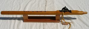 Native American style Key of E Cedar Flute with Orca Carving by Spring Shine.