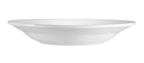 CAC China RCN-120 Clinton Rolled Edge 12-Inch Super White Porcelain Pasta Bowl, 26-Ounce, Box of 12 by CAC China (Image #2)