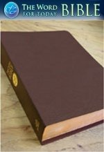 The Word For Today Bible - British Tan Genuine Cowhide with Index - NJKV