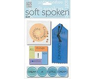 Soft Spoken 3-D Embellishments- Sayings