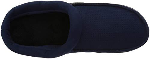 Dearfoams Men's Perforated Microsuede Clog Slipper, Navy Blazer, XL Regular US by Dearfoams (Image #8)