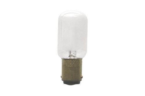 S+H N/ählichtlampe R/öhrenform 22x57 mm B15d 235 Volt 15 Watt matt sto/ßfest