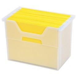 IRIS Large Desktop File Box, Clear