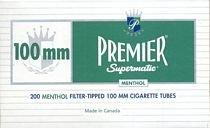 Premier Menthol 100s Cigarette Tubes 200ct Carton by Premier