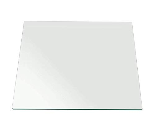 Wood & Style Office Home Furniture Premium Square Glass Top Flat Polished Tempered Eased Corners Table, 42 x 1/4, Clear