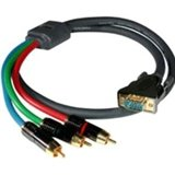 C2G/Cables to Go 40334 SonicWave RCA Type Component Video to HD15 Breakout Cable (25 Feet, Gray)