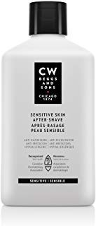 CW Beggs and Sons Sensitive Skin After-Shave Lotion for Men, Hypoallergenic and Fragrance-Free, 4.2 fl oz
