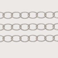 Oval Links Alternating (CABLE CHAIN OVAL ALTERNATING LINKS 12x10mm choice of plating BEADING SOLD BY THE YARD (Silver Plated))