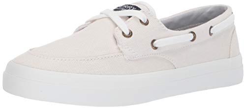 SPERRY Women's Crest Boat Sneaker, White, 8.5
