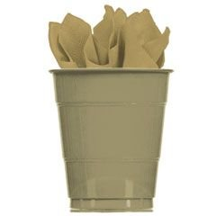Gold Shimmer Theme Party 16 Oz Paper Cups - 20 Per Unit