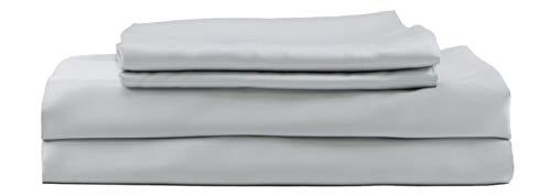 Hotel Sheets Direct Bamboo Bed Sheet Set 100% Viscose from Bamboo Sheet Set (Split King, Grey)