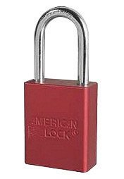 American Lock® Red 1 1/2'' X 3/4'' Aluminum 5 Pin Safety Lockout Padlock With 1/4'' X 1 1/2'' X 3/4'' Shackle (Keyed Differently) (6 Pack)