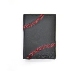 Rawlings Baseball Stitch Front Pocket Wallet with Clip
