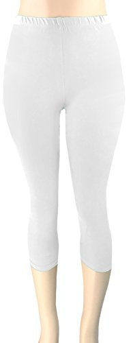 Lush Moda Extra Soft Leggings - Variety of Colors -Plus Size - White