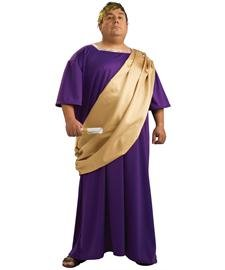 Fat Halloween Man (Rubie's Adult Plus Size Caesar)