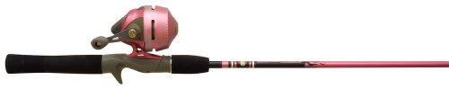 Zebco 202SLSCLADY,10,NS5  202K/562M Ladies Pink Slingshot Spincast Fishing Rod and Reel Combo