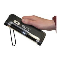 UVP 95-0188-02 Mini UV Lamp, 4W, Longwave/Shortwave, 4AA Battery