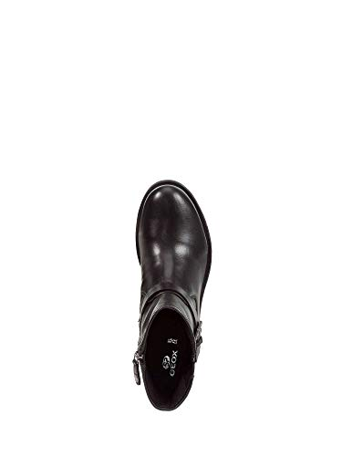 Rawelle Cuir Femme Geox Noir Bottes D 000tu D746rd Nero En Chaussures c9997 rwIqx5qFY