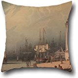 - Throw Pillow Covers Of Oil Painting Robert Salmon - The Low Lighthouse, North Shields,for Family,girls,bar,study Room,home Theater,wife 20 X 20 Inches / 50 By 50 Cm(two Sides)