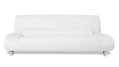 White Aspen Leather Sofa