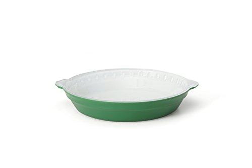 Creo SmartGlass Cookware, 9-inch Pie Pan, Bali Green