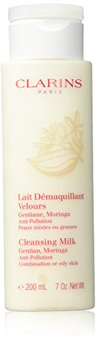 Clarins Cleansing Milk with Gentian (Combination or Oily Skin) 7oz, 200ml Fast Shipping Ship Worldwide