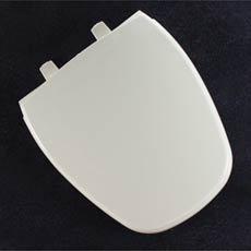 Bemis 1240200148 Eljer Emblem Plastic Round Toilet Seat, Sandalwood