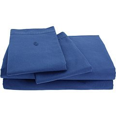 Lacoste Home Brushed Twill Dutch Blue King Sheet Set
