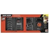 Black & Decker Drill and Screwdriver Power Tool Accessory Set - 195 pc