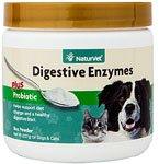 NaturVet Digestive Enzymes plus Probiotic for Cats & Dogs -- 8 oz