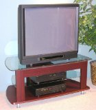 4D Concepts TV Entertainment Stand, Cherry