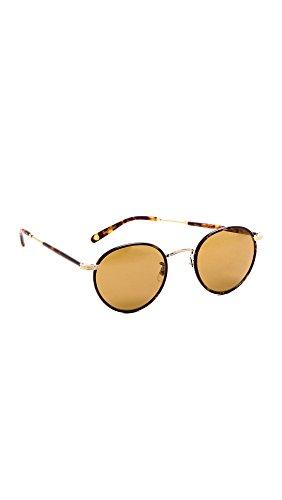 GARRETT LEIGHT Women's Wilson Sunglasses, Bourbon Tortoise/Pure Brown, One - Garrett Sunglasses