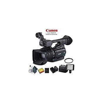Canon XF200 HD Professional Camcorder (9593B002) with 32GB Memory Card, Extra Battery and Charger, UV Filter, LED Light, Case and More. - Starter Bundle