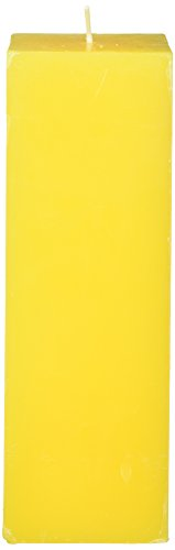(Zest Candle Pillar Candle, 3 by 9-Inch, Yellow Square)
