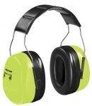 Hi Earmuffs Viz (Optime 105 Earmuffs, 30 dB NRR, Hi-Viz Green, Over the Head (8 Pack))