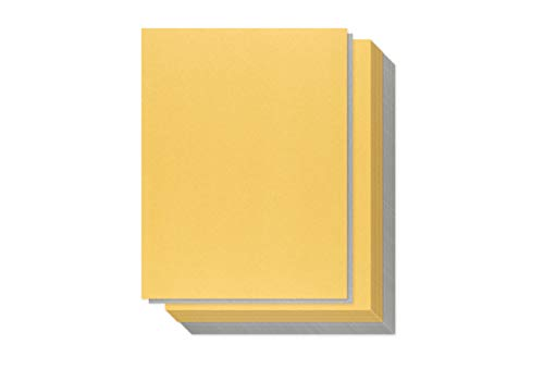Gold and Silver Shimmer Paper - 100-Pack Metallic Cardstock Paper, 92 lb Cover, Double Sided, Printer Friendly - Perfect for Weddings, Birthdays, Craft Use, Letter Size Sheets, 8.5 x 11 Inches