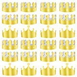 TUPARKA 36 PCS Paper Crowns Hat Gold Foil Crowns Paper Party Hat for Birthday Party, Baby Shower