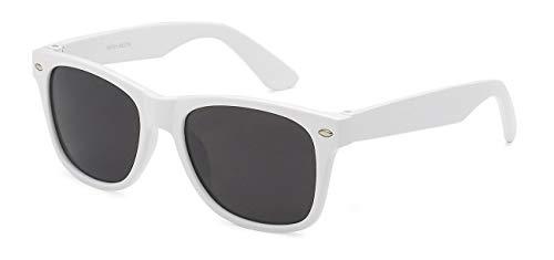 Kids Childrens 80's Classic Retro Sunglasses (White)