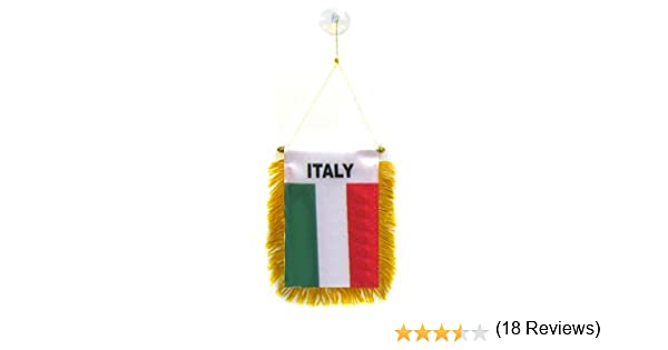 AZ FLAG BANDERIN de Italia 15x10cm con Ventosa - BANDERINA Italiana 10 x 15 cm para Coche: Amazon.es: Hogar