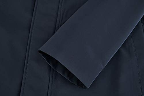 AIYIMEI Men Hooded Jacket Mens Waterproof Hooded Rain Jacket Men's Lightweight Windproof Active Outdoor Long Raincoat
