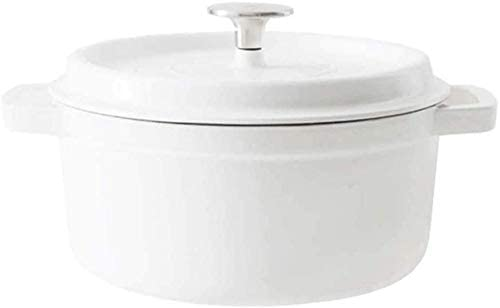 ZCM Cazuela De Platos De Cerámica Cazuela, Hierro Fundido Gas Doméstico Sopa De Cocina Redonda Sin Revestimiento Versátil Se Puede Utilizar como Cazuela
