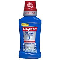 Colgate Peroxyl Mouth Sore Rinse, Antiseptic Oral Cleanser & Rinse, Mint, 8 fl oz - 2pc