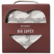 Milkbarn Bamboo Cotton Big Lovey Baby Blanket - Grey Hedgehog