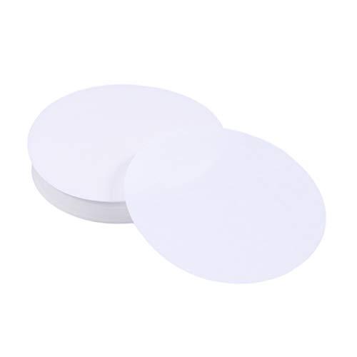 STOBOK 200pcs circulos de papel de filtro cualitativo para los accesorios de laboratorio de la escuela 11cm